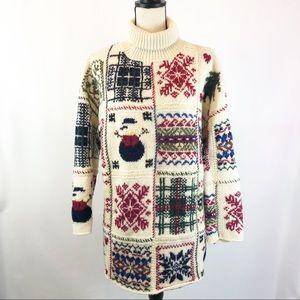 Moda International Christmas Turtleneck Sweater